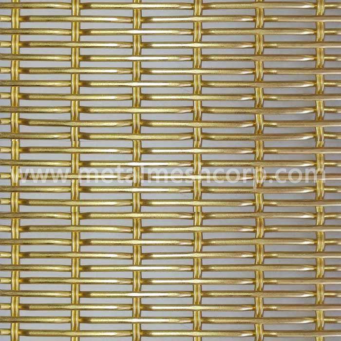 Golden Color Decorative Woven Mesh Fabric