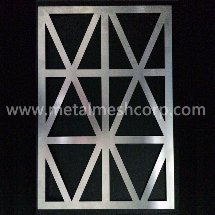 Laser cut aluminum facade panels